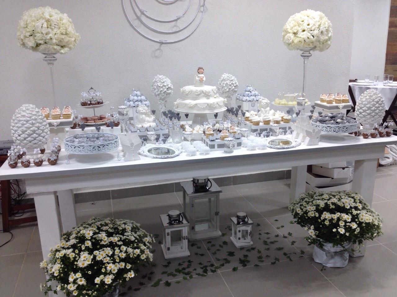 decoracao tudo branco:Batizado em Branco e Prata para o Thiago